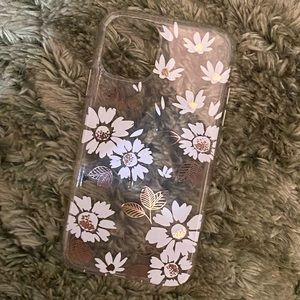 Clear iPhone 11 floral case